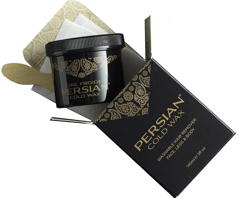 Persian Cold Wax Kit, Hair Removal Sugar Wax for Body Waxing Women & Men, 5 oz C190