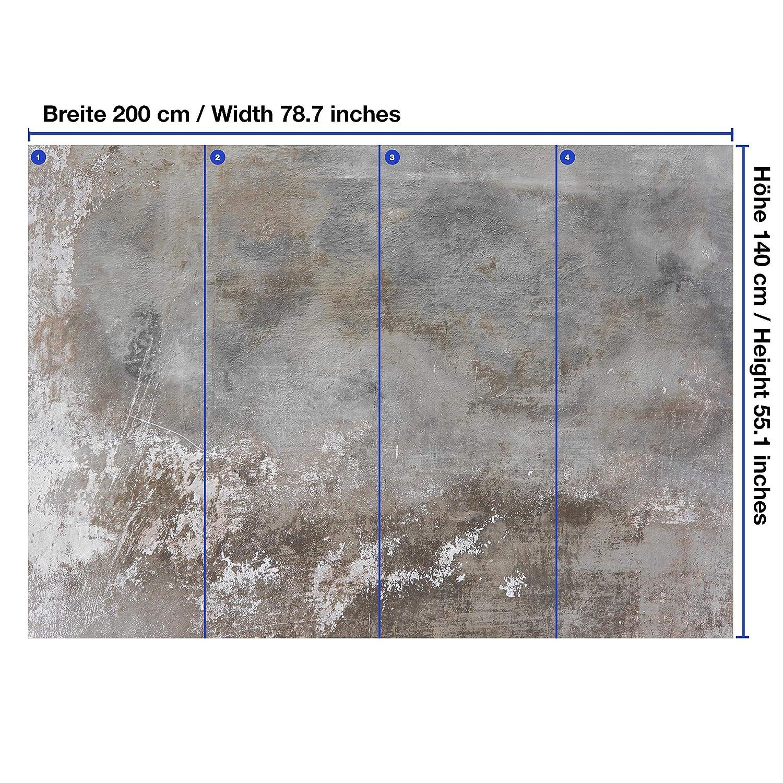 Vlies-Tapeten Stein wandmotiv24 Fototapete Rustikal Beton-wand Grau XXL 400 x 280 cm Mauer M1439 Wandbild Motivtapeten 8 Teile Fototapeten