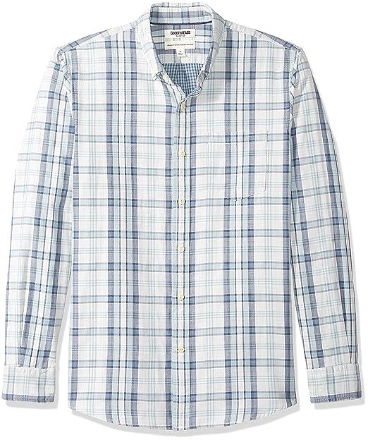 Camisa reversible de manga larga y corte est/ándar para hombre Goodthreads Marca
