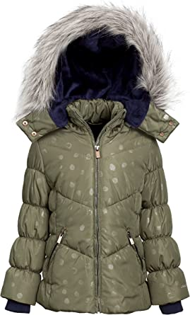 Amazon.com: LONDON FOG Girls Down Alternative Hooded Winter Snow Puffer  Bubble Jacket Coat: Clothing