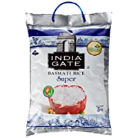 India Gate Basmati Rice Bag, Super, 5kg