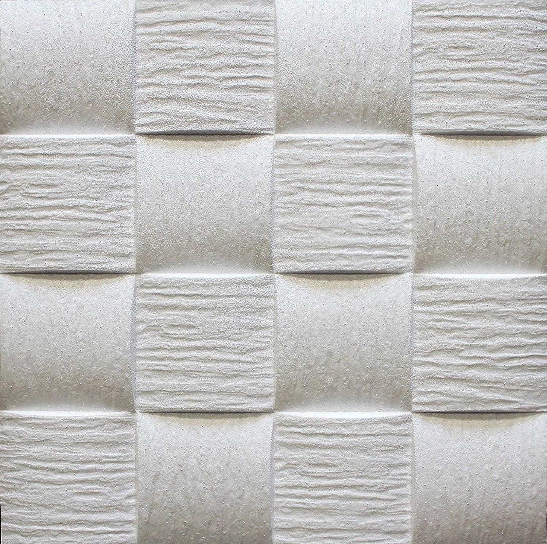 Azulejos de techo de poliestireno Welle 2 ( paquete de 56 pc / 14 metros cuadrados ) Blanco Marbet
