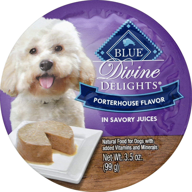 Blue Divine Delights Porterhouse Wet Dog Food in Savory Juice 3.5 OZ - 0840243120451
