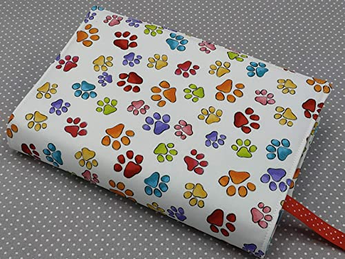 book bag Grey Floral A5 book case book sleeve Adjustable book cover diary cover book buddy
