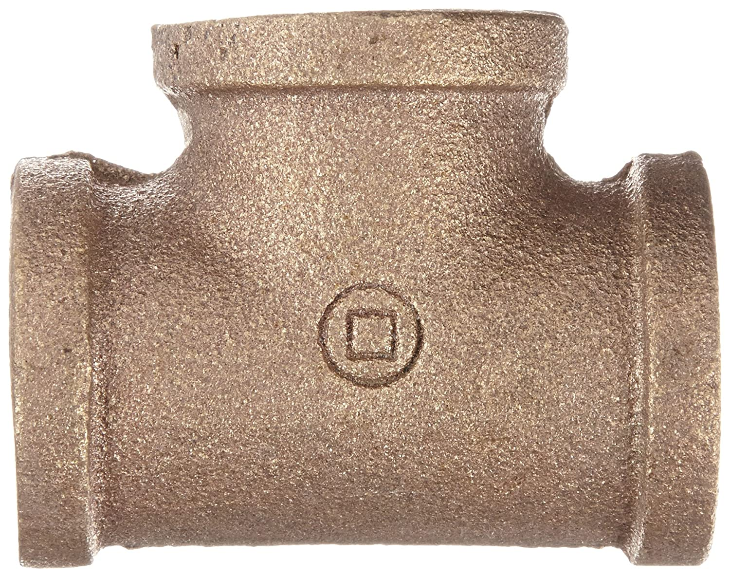 Anderson Metals 38101 Red Brass Pipe Fitting Tee 3//4 x 3//4 x 3//4 Female Pipe 3//4 x 3//4 x 3//4 Female Pipe 38101-12