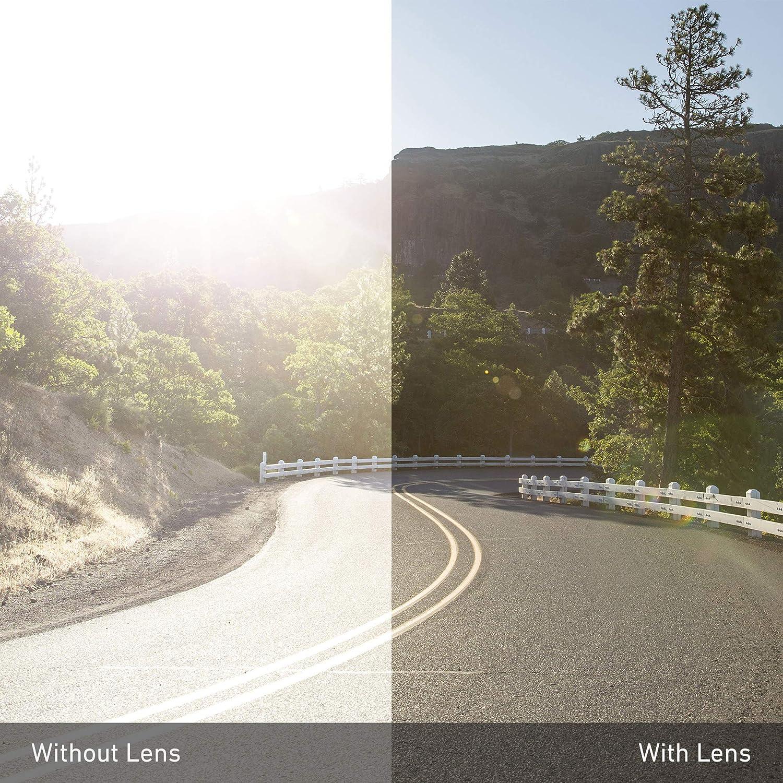 Revant Verres de Rechange pour Wiley X Twisted - Compatibles avec les Lunettes de Soleil Wiley X Twisted Noir Furtif - Non Polarisés