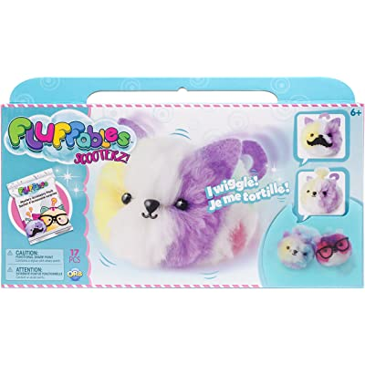 """Orb The Factory Fluffables Marshmallow Motion Arts & Crafts, White/Purple/Yellow/Pink/Green, 11.75"""" x 2"""" x 6"""": Toys & Games"""