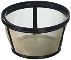 Permanent Basket-Style Gold Tone Coffee Filter designed for Mr. Coffee 10-12 Cup Basket-Style Coffeemakers