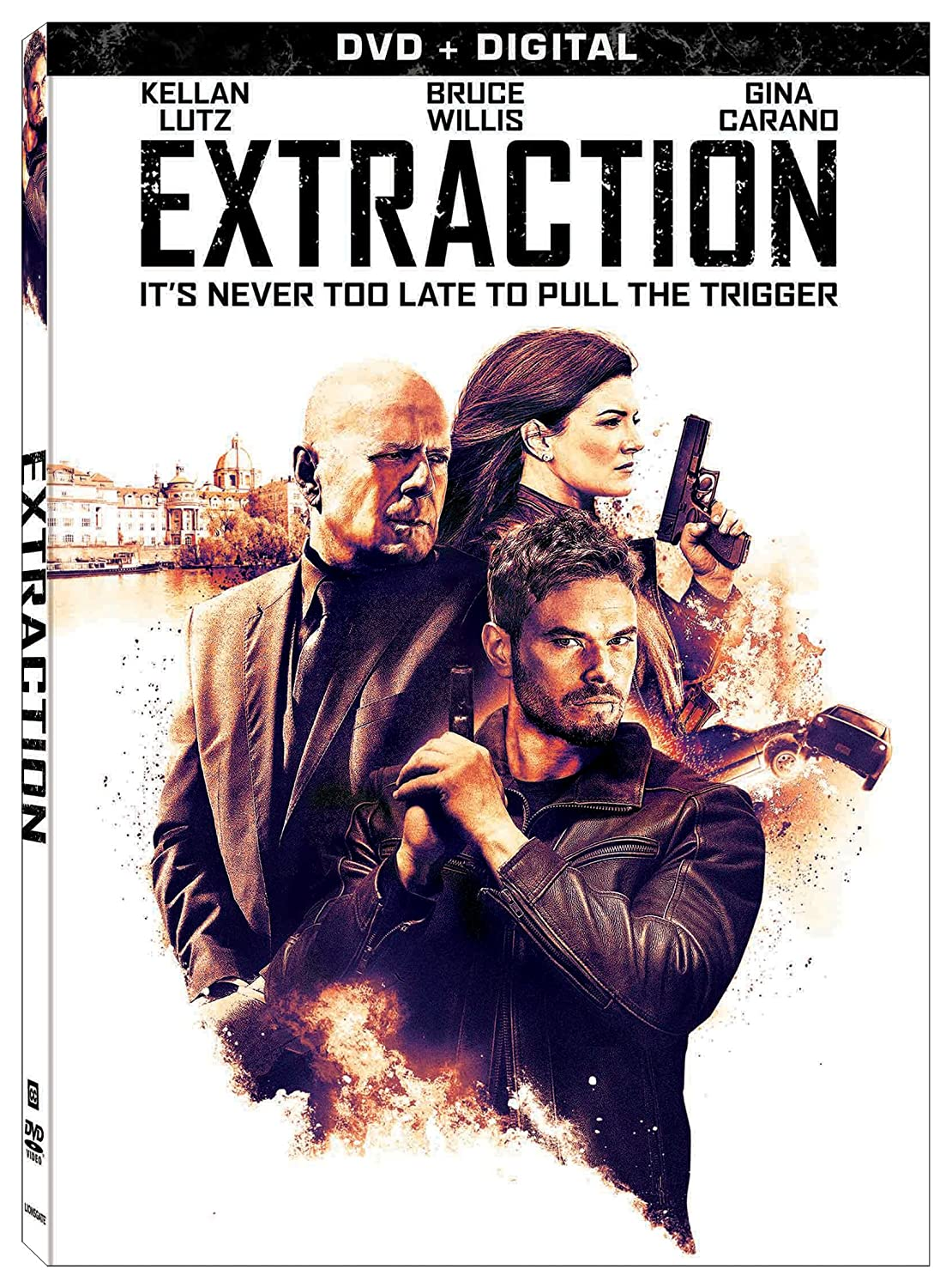 Amazon Com Extraction Dvd Digital Bruce Willis Kellan Lutz Gina Carano D B Sweeney Dan Bilzerian Nikki Breanne Wells Summer Altice Steven C Miller Movies Tv