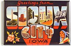 Greetings from Sioux City Iowa Fridge Magnet (2.5 x 3.5 inches)