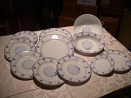 Tiffany u0026 Co u0027Shell u0026 Threadu0027 ... & Amazon.com | Tiffany u0026 Co u0027Shell u0026 Threadu0027 Limoges China: Dinnerware ...