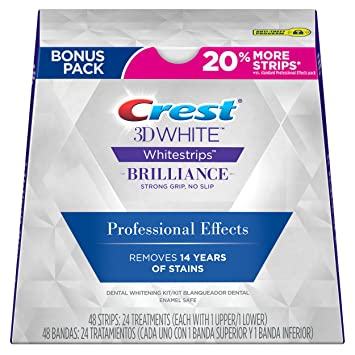 Amazon Crest 3D White Strips Professional Effects Teeth Whitening Kit 24 Count Beauty