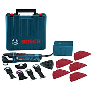 BOSCH Power Tools Oscillating Saw - GOP40-30C – StarlockPlus 4.0 Amp Oscillating MultiTool Kit Oscillating Tool Kit Has No-touch Blade-Change System, 32 Accessories and Case