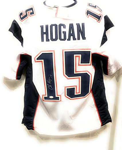 low priced 1af7a f637d Chris Hogan New England Patriots Signed Autograph White ...