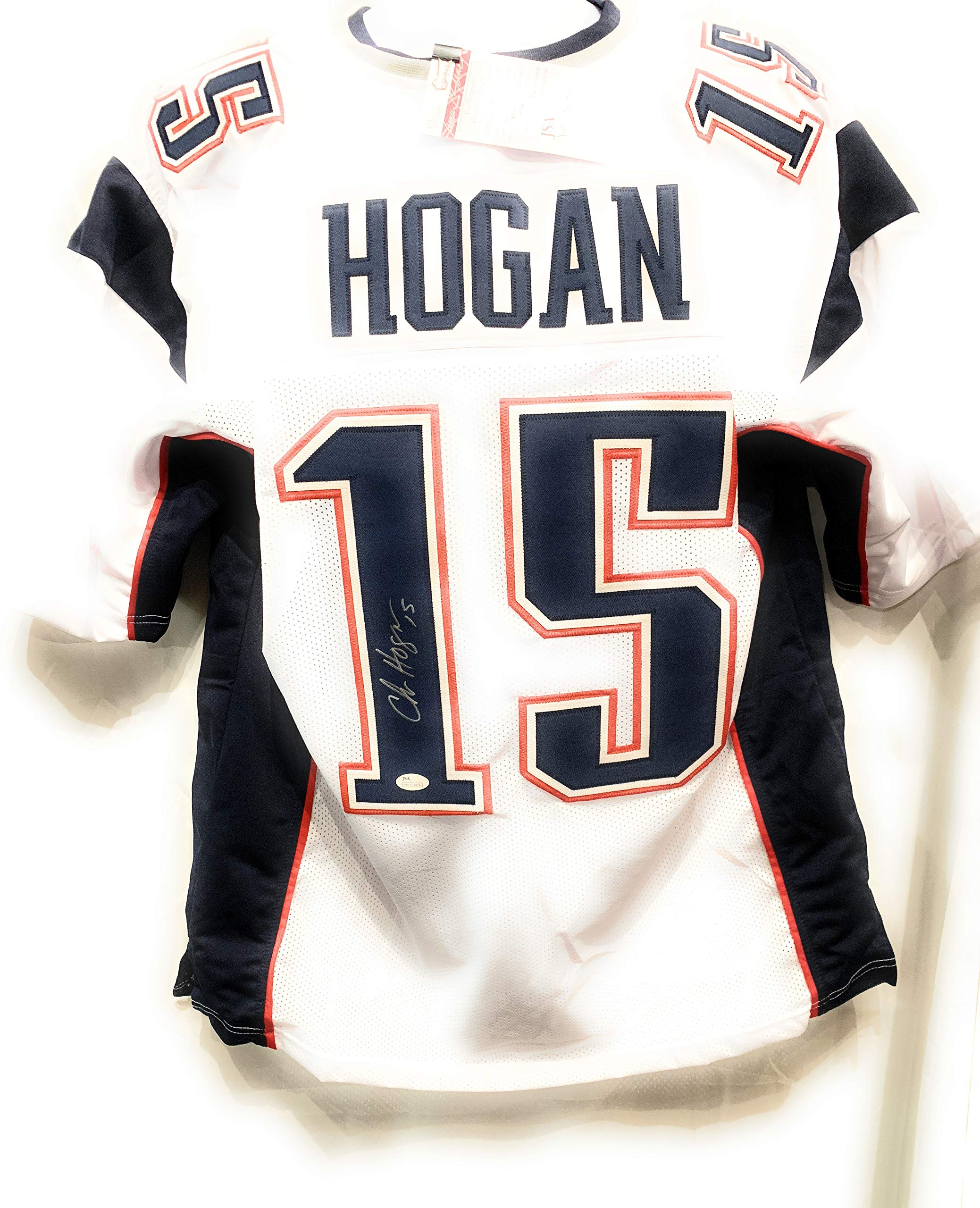 Chris Hogan New England Patriots Signed Autograph White Custom Jersey JSA Certified