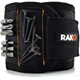 RAK Magnetic Wristband (1 Pack) with Strong Magnets for Holding Screws, Nails, Drill Bits - Best Tool Gift for DIY Handyman, Men, Women (Black)