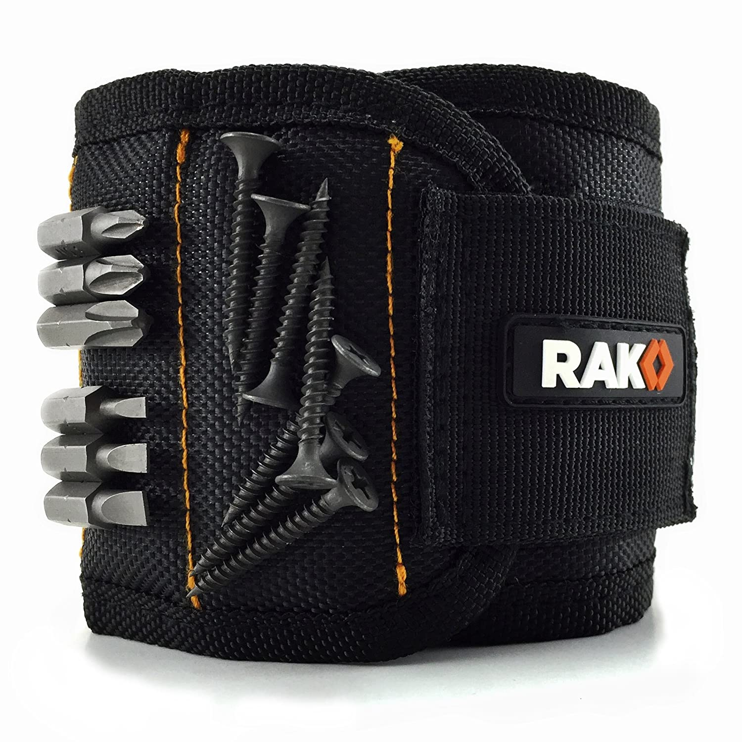RAK Magnetic Wristband (1 Pack) with Strong Magnets for Holding Screws, Nails, Drill Bits