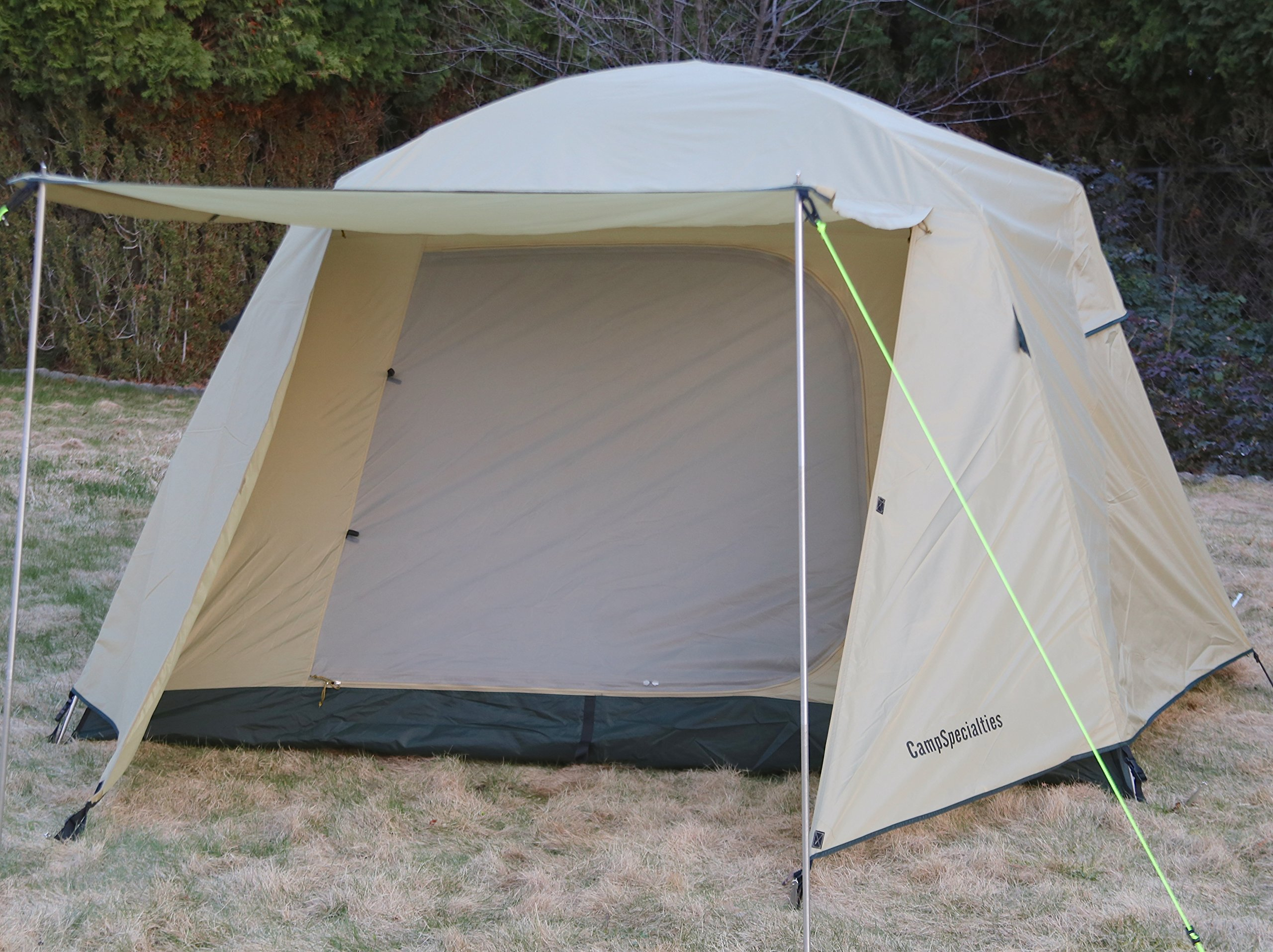 Camp Time Expedition Tent, Fast set-up, 100 square feet including vestibules, floor liner, awning poles, 7001-T6 aluminum, Designed for your cots-stools-tables,. by Camp Specialties (Image #4)