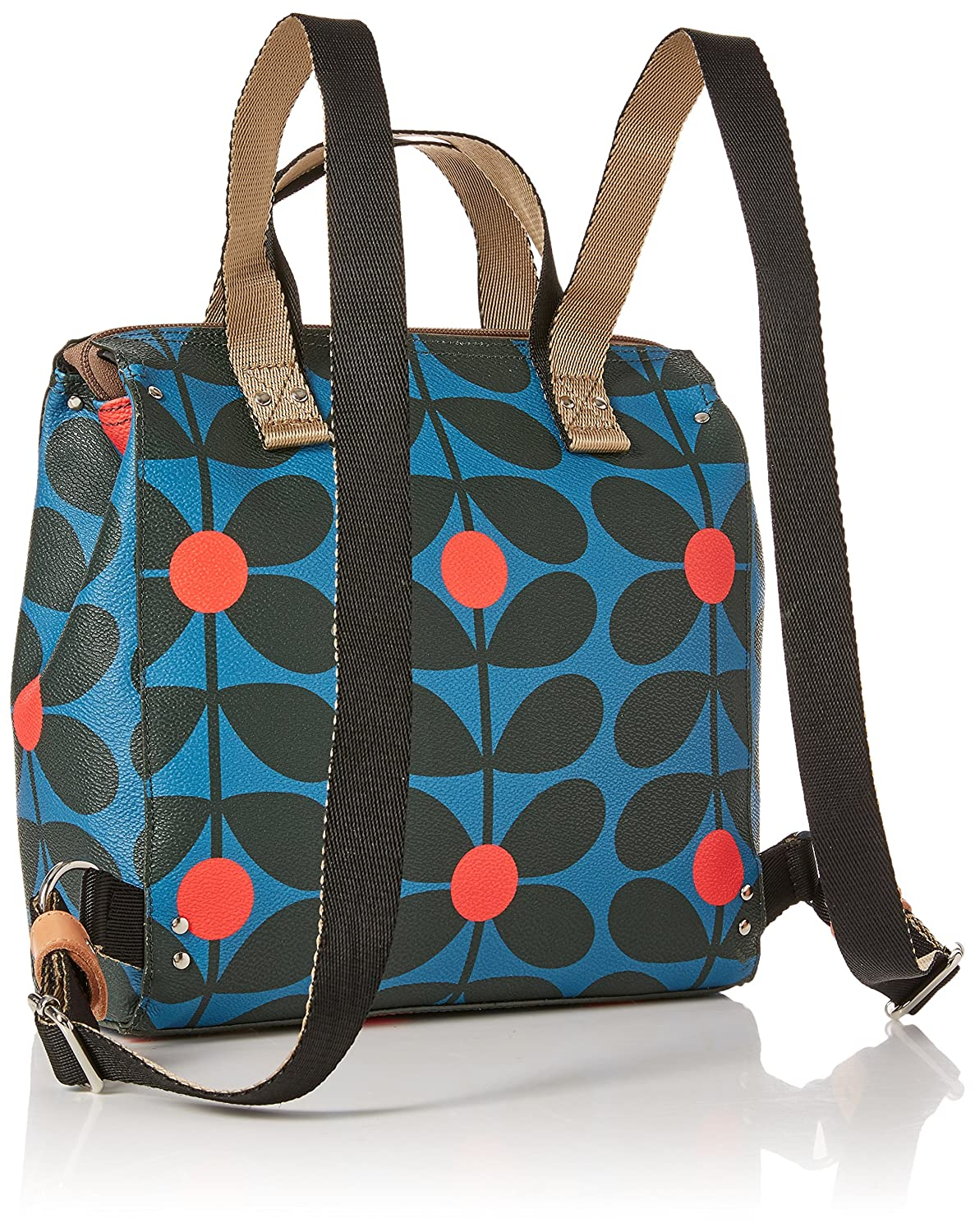6611c1bb79 Orla Kiely Womens Small Backpack Backpack Multicolour (Blue Kingfisher)   Amazon.co.uk  Shoes   Bags