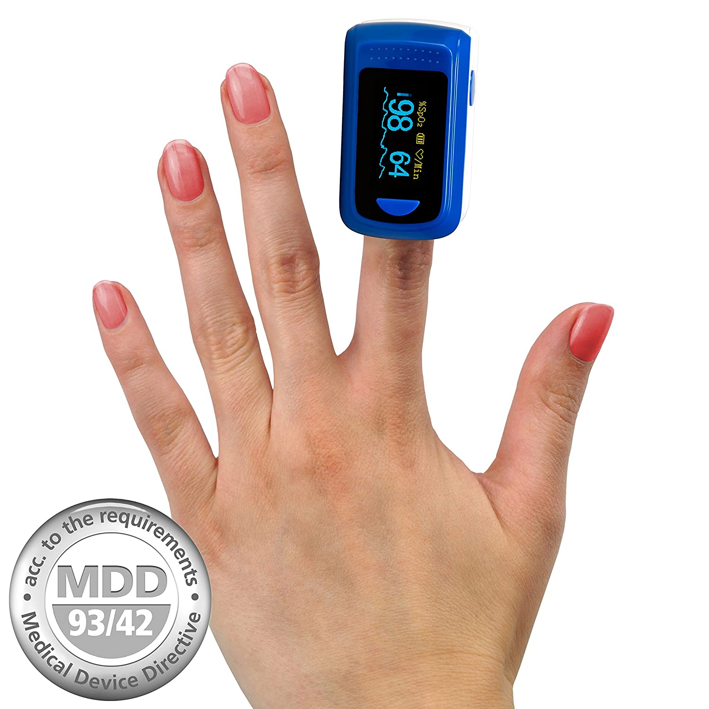 MedX OLED Pulsioximetro de dedo pulsómetro oxímetro medidor de pulso producto médico