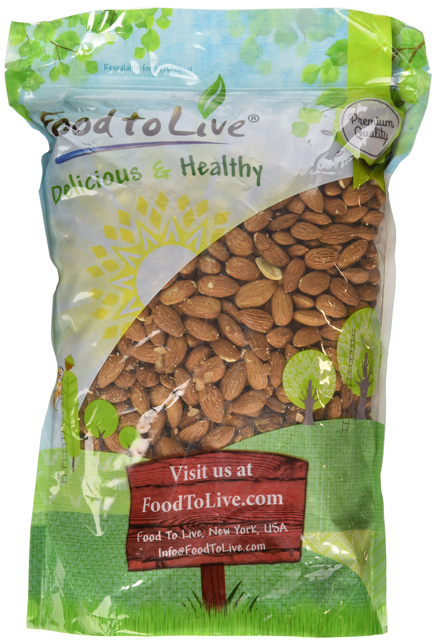 Food To Live Almonds (Whole, Raw, Shelled, Unsalted) (4 Pounds)