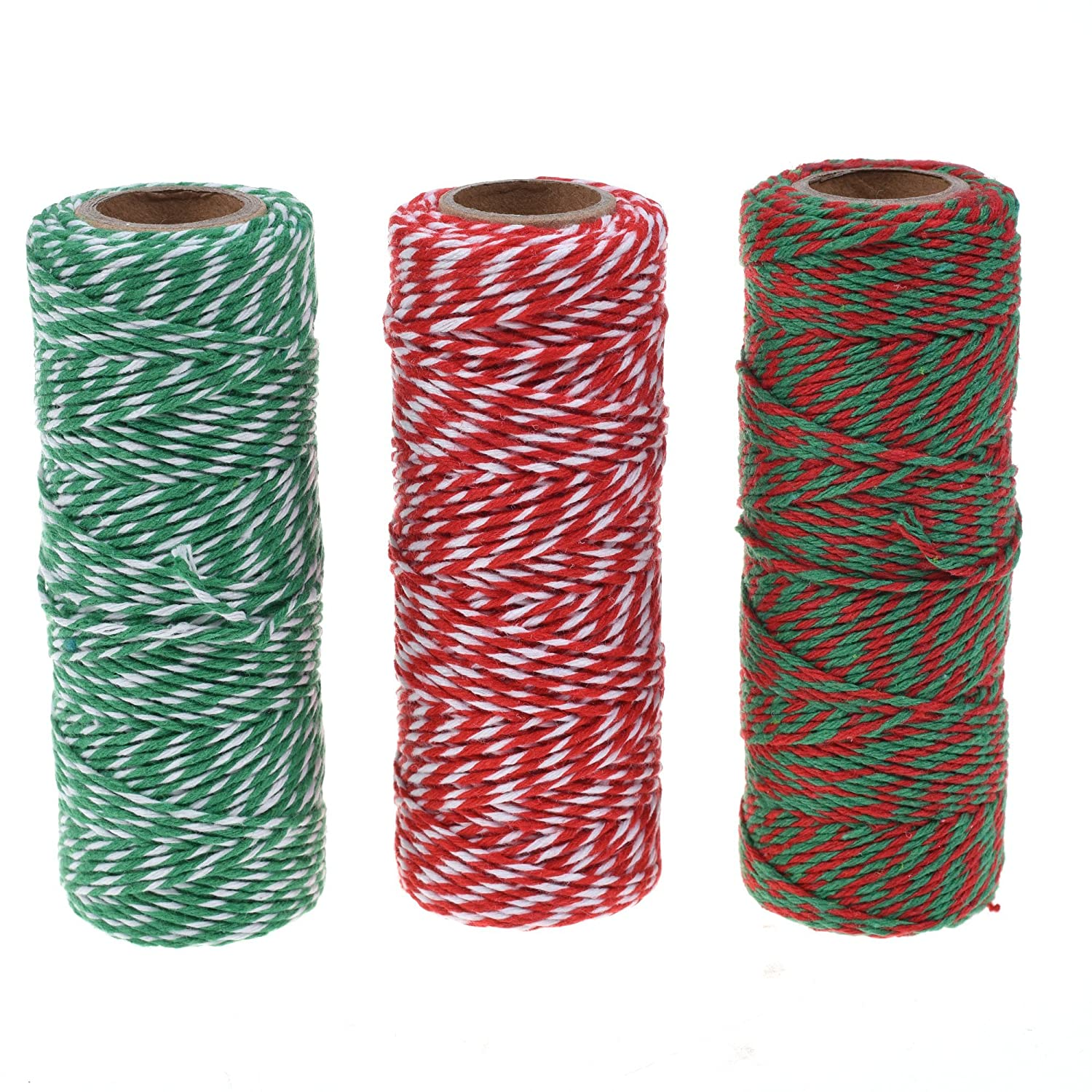 Cosmos ® Cotton Baker's Twine Cording, 3 Roll Assorted Colors 4336807571