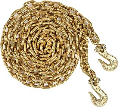 3//8 x 10 Transport Chain with 3//8 Clevis Hooks EI020Z NACM Standard Grade 70 Binding Chain.