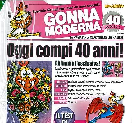 Biglietto Auguri Giornale Cm 32x49 40 Anni Marta Lupo Alberto