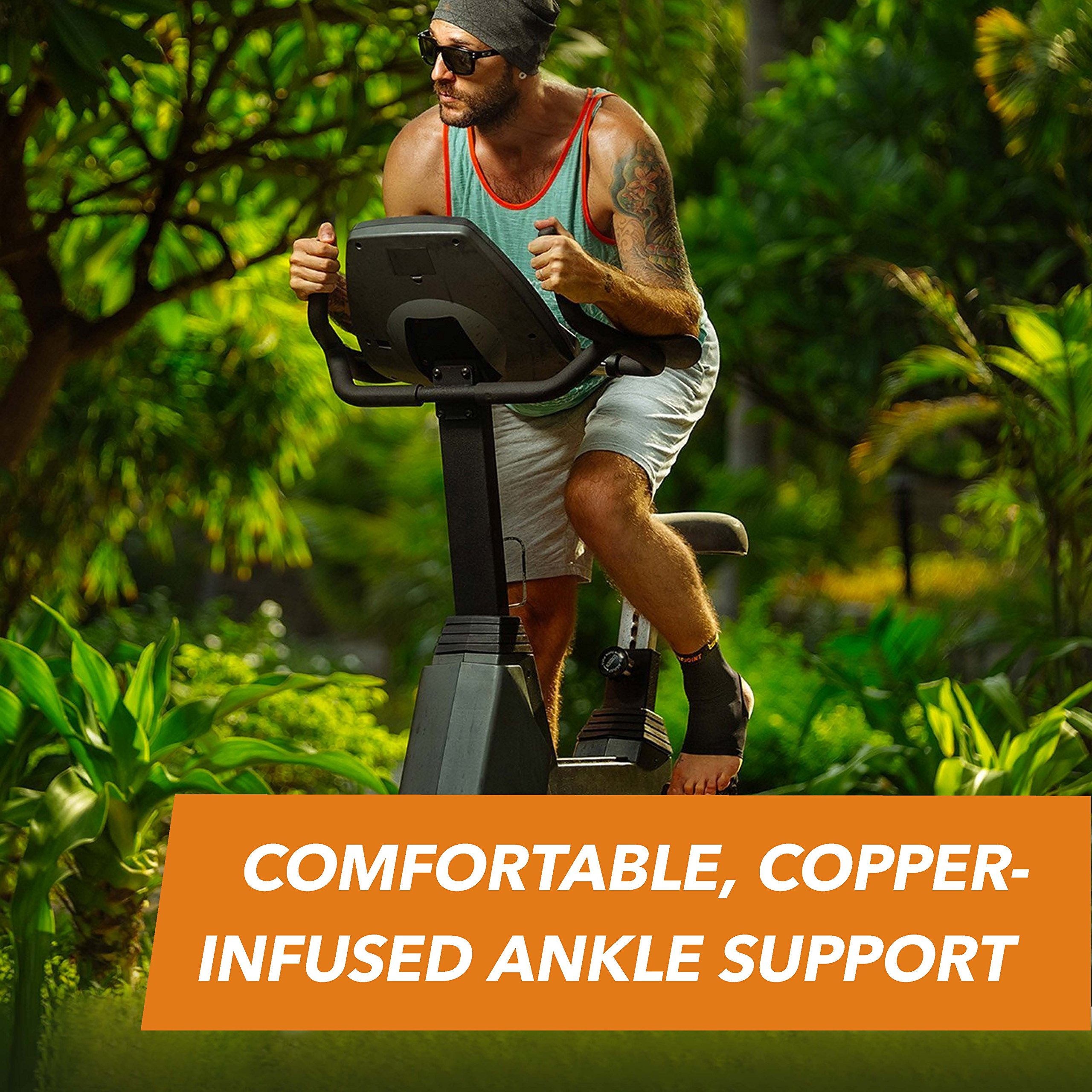CopperJoint Copper-Infused Compression Ankle Sleeve, High-Performance, Breathable Design Provides Comfortable and Durable Joint Support for All Lifestyles, Single Sleeve (Medium) by CopperJoint (Image #10)
