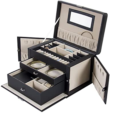 Amazoncom Best Choice Products Leather Jewelry Box And Jewelry