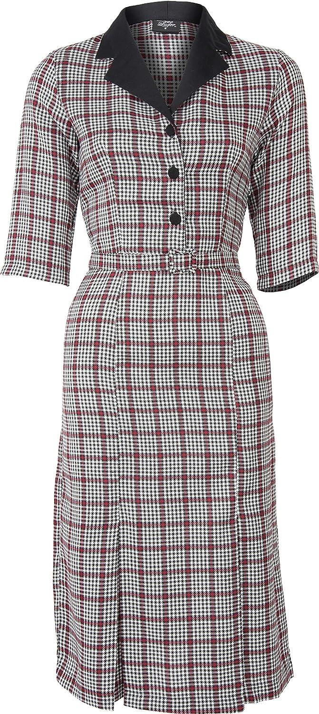 K/üstenluder Damen Kleid Larissa Streifen Ahoi Pin Up Dress