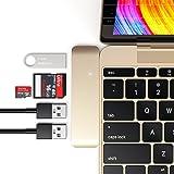 Satechi マルチ USB ハブ Type-C Macbook 12インチ対応 USB3.0 3in1 コンボハブ(ゴールド)