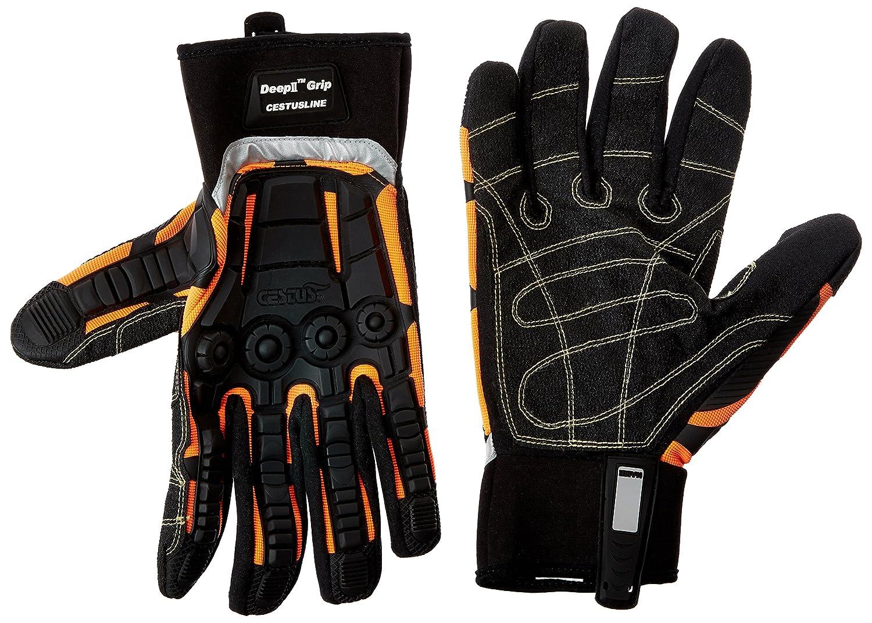 Cestus DEEP II Grip OR-3075 3XL Pro Series Deep II Grip Impact Glove, Work, Cut Resistant, 3X-Large, Orange Cestusline Inc