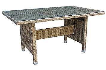 Avanti Trendstore Gartentisch In Rattan Struktur In Aluminium