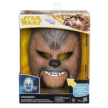 Star Wars B3226 figura máscara electrónica Chewbacca, única