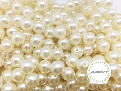 Assorted, Ivory LolaSaturdays Pearls 1-Lbs Loose Beads no Hole