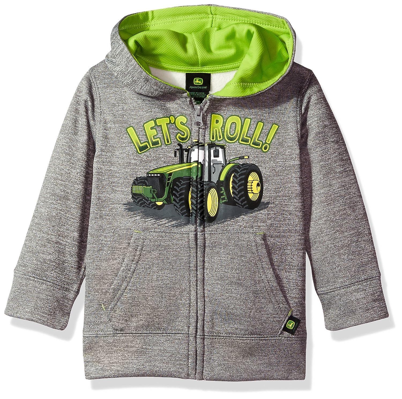 John Deere Tractor Toddler Boy Zip Front Poly Hoody Sweatshirt JFJ787HT