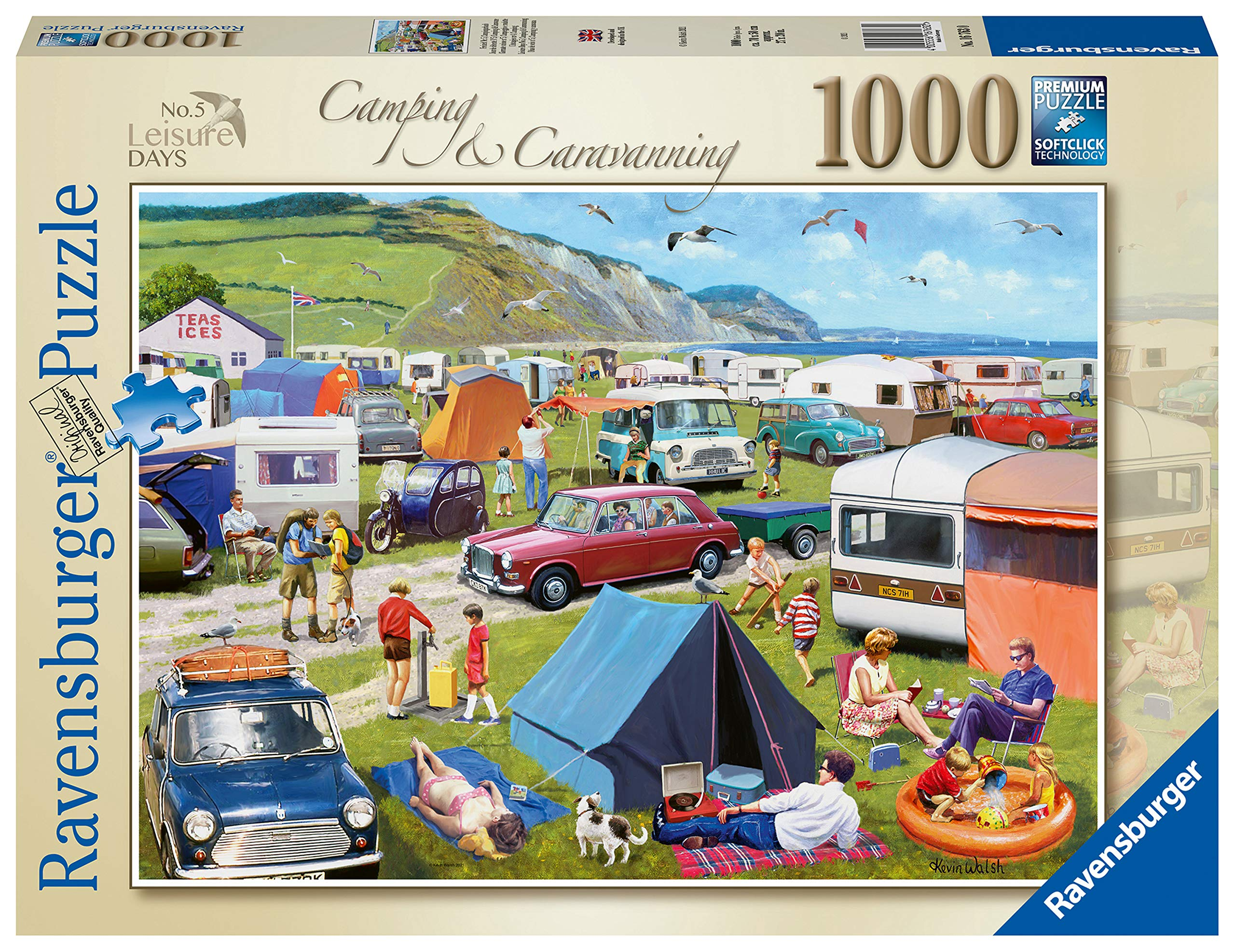 Ravensburger Leisure Days No.5 Camping & Caravanning 1000 Piece Jigsaw Puzzle for Adults Age 12 Years Up