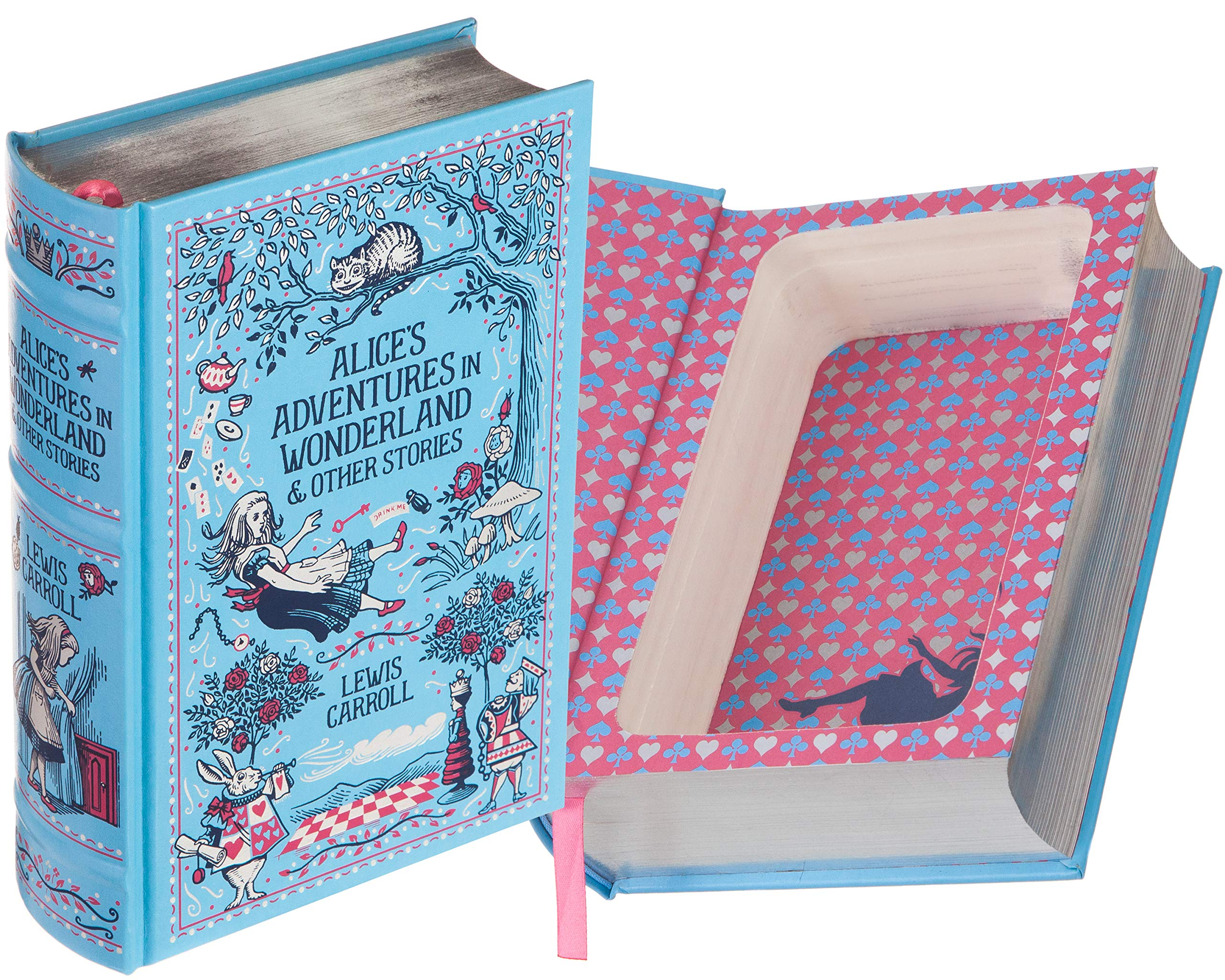 Real Hollow Book Safe - Alice's Adventures in Wonderland by Lewis Carroll (Magnetic Closure) (Leather-bound)