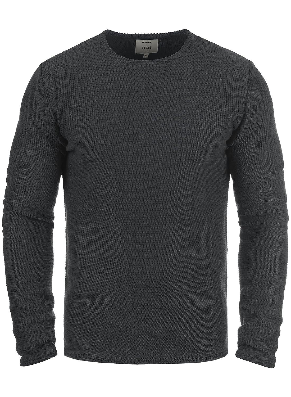 Redefined Rebel Mace Herren Strickpullover Feinstrick Pullover Mit Rundhals Aus 100% Baumwolle