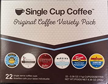 Single Cup Coffee Original Variety Pack (6 Blends) (88)