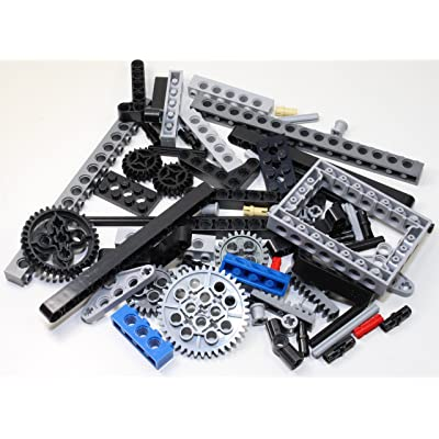 Technic Brick Mix of LEGO and Other Brands (Mindstorms EV3 Gear axle Beam 69 Set Bulk lbs) Nice! Get Exactly What's Pictured!: Toys & Games