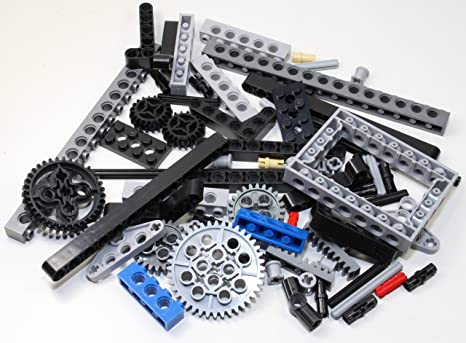 Technic Brick Mix of LEGO and Other Brands (Mindstorms EV3 Gear axle Beam  69 Set Bulk lbs) Nice! Get Exactly What's Pictured!