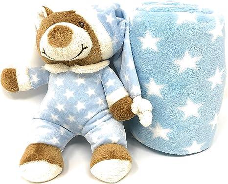 Set de manta y peluche para bebé - caja para regalo - manta de ...