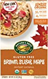 Nature's Path Organic Gluten-Free Instant Hot Oatmeal, Brown Sugar Maple with Ancient Grains, 8 Counts, 11.3 Ounce (Pack of 6)