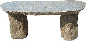 Stone Age Creations BE-BO-1 Granite Boulder Bench, Grey