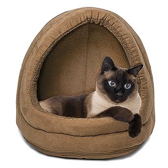 Amazon.com: furhaven Siesta mascota cama con cierre cúpula ...