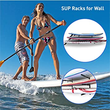 Amazon.com: EasyGoProducts EGP-SURF-006 SUP and Surf 3 Level Wall Storage for Garage or Room-Paddle Board and Longboard Racks: Home & Kitchen