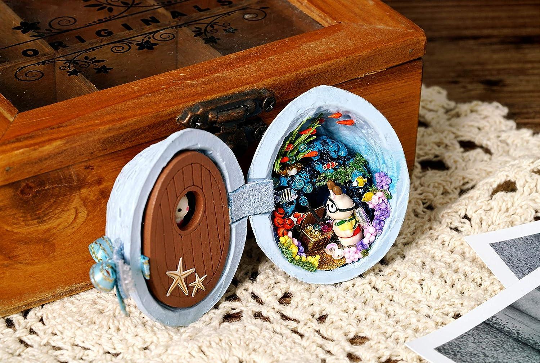 Seed world Home Model Artwork A Cuteroom lemogo Dollhouse Miniature DIY House Kit Wooden Toy Doll Room