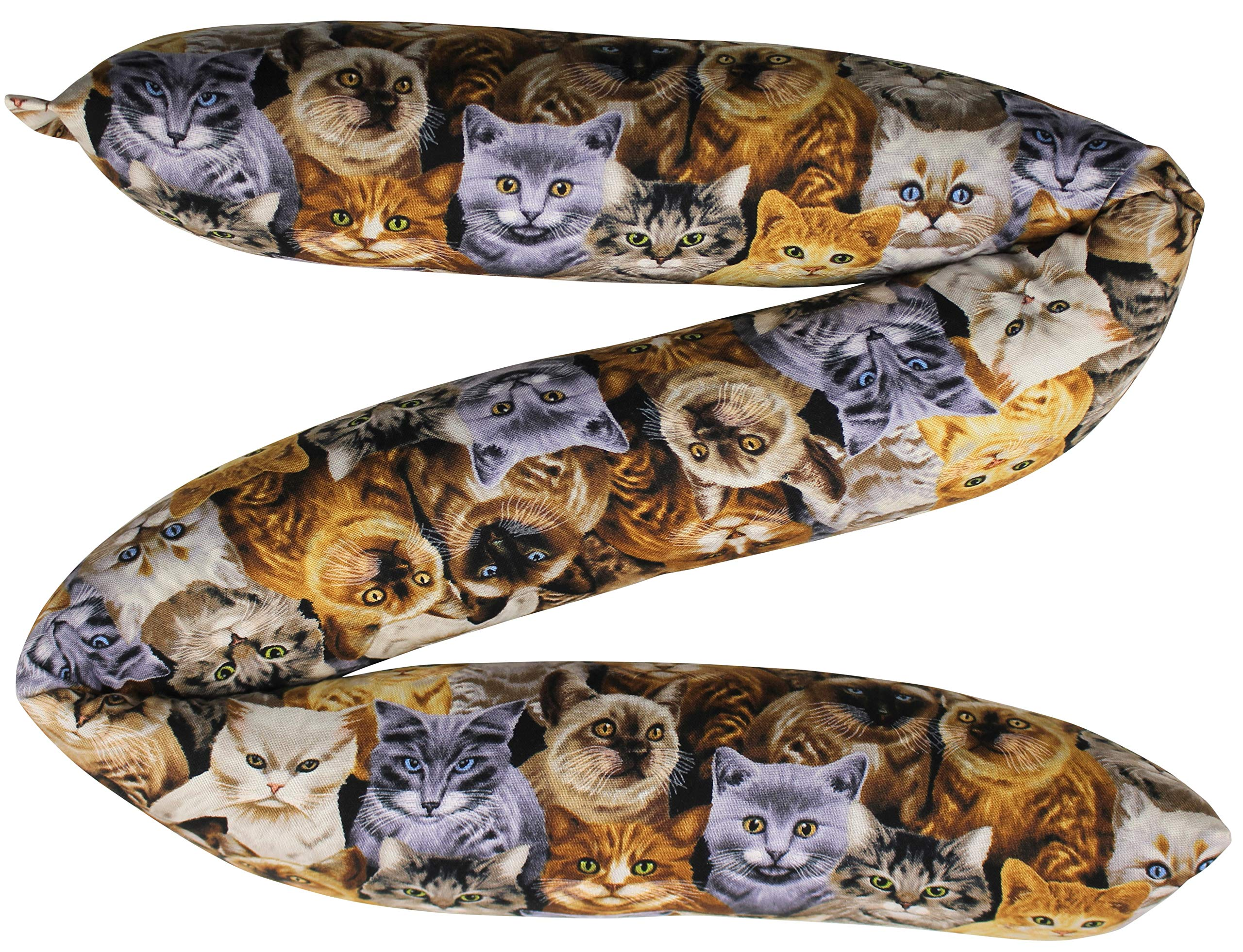 Door Draft, Light, Dust Stopper Natural Fragrant Balsam, Many Colors & Sizes - Quality USA Made (2'' x 32'', Packed Cats (Little Pattern)